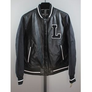 NEW! LEVI'S LEATHER VARSITY JACKET!